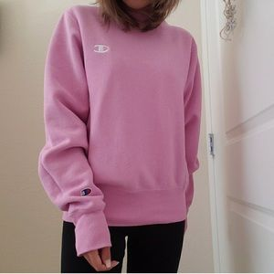 pink champion sweater